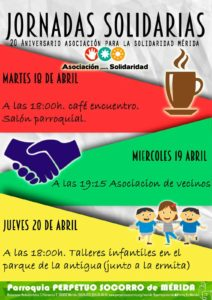 Cartel de las Jornadas Solidarias en AS Mérida