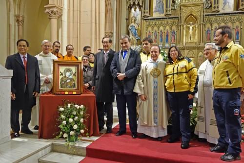 Autoridades presentes en la celebración